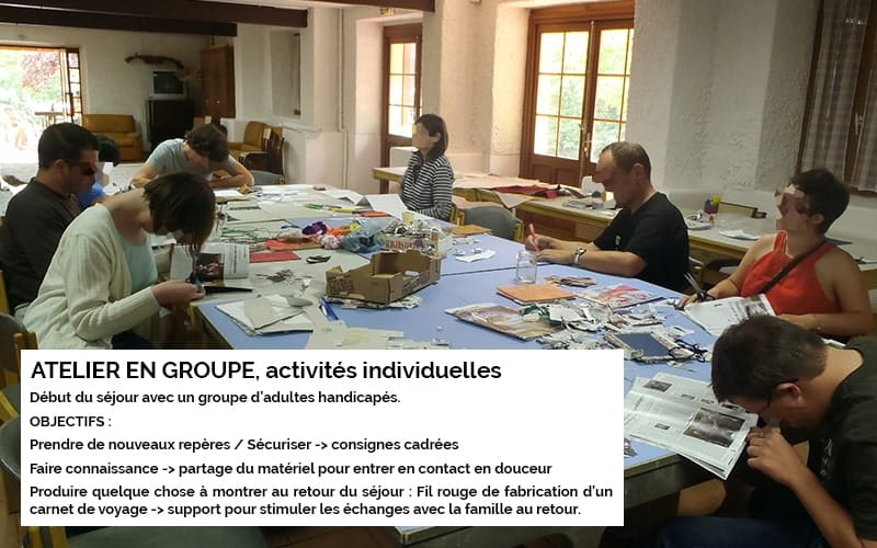 Art-thérapie : activité de groupe individuelle