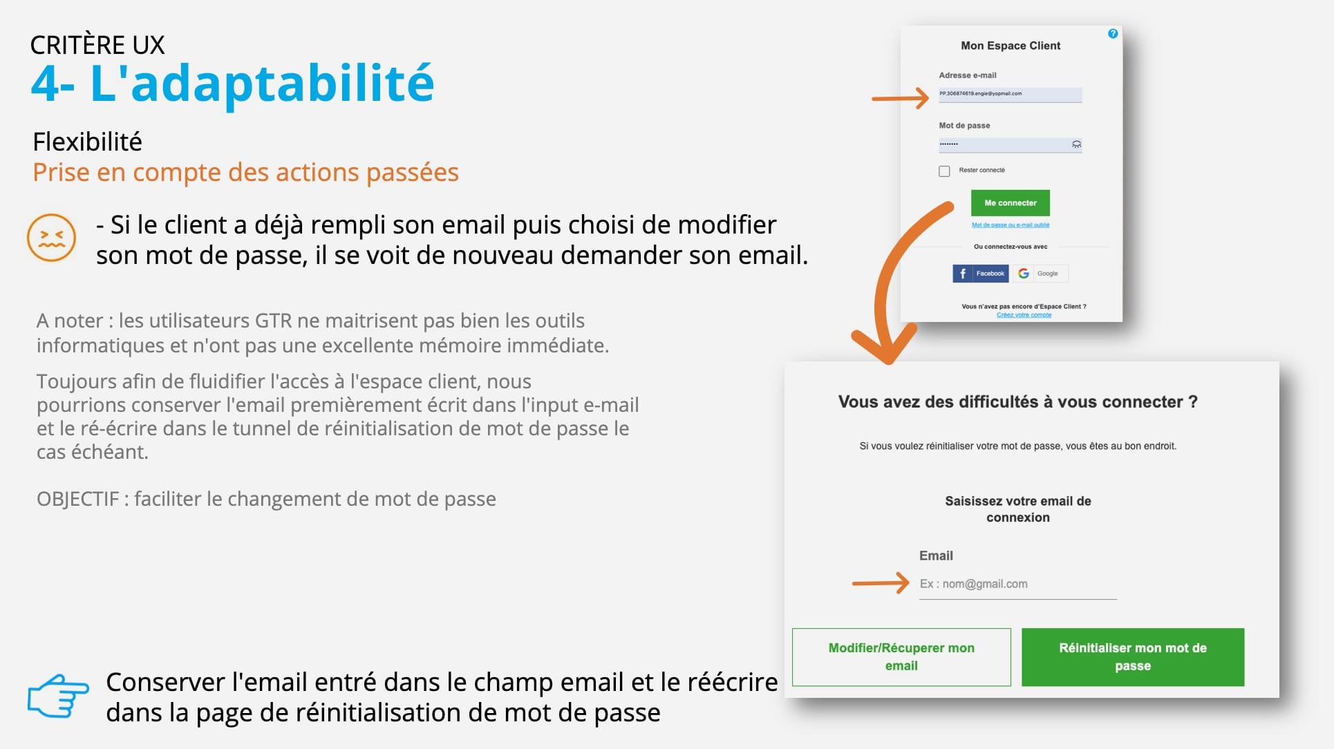 Audit - Critère UX : adaptabilité