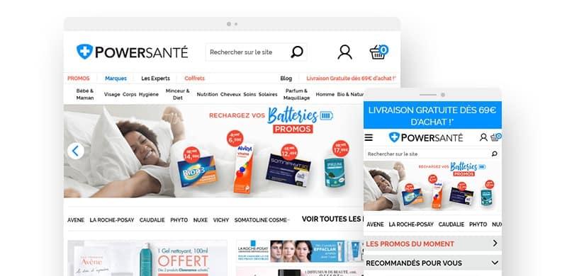 Site web powersante responsive